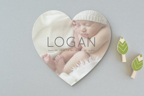 Clean and Classy Birth Announcements