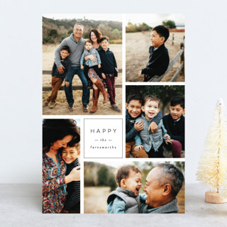 Multi Fresh Holiday Photo Cards