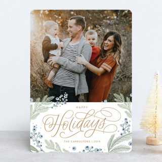 Pretty Pines Holiday Photo Cards