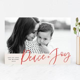 Peace + Joy Holiday Photo Cards
