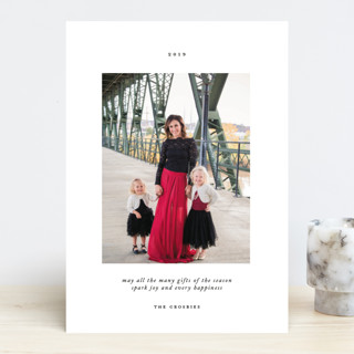 Avec Joie Holiday Photo Cards
