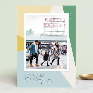 Modern Abstract Holiday Photo Cards