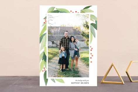 Holiday Wreath Holiday Photo Cards