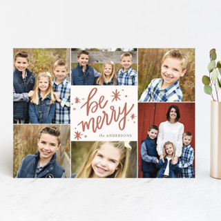 So Merry Collage Holiday Photo Cards