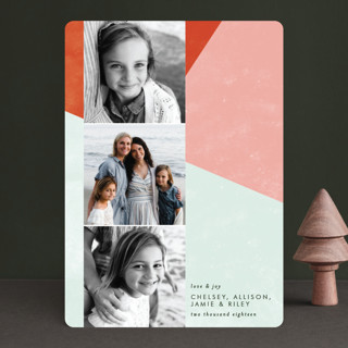 Bold Blocks of Color Holiday Photo Cards