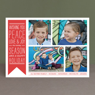 Wish Banner Holiday Photo Cards