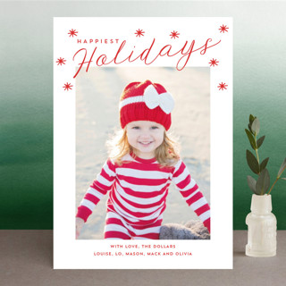 Happy Holidays Stars Holiday Photo Cards