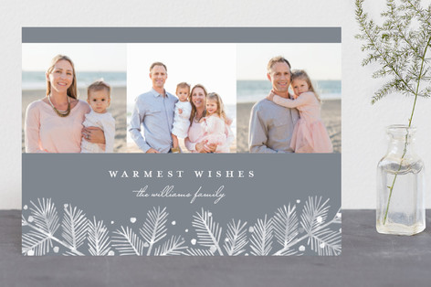 Winterland Pine Holiday Photo Cards