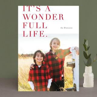 Lush Wonder Holiday Photo Cards