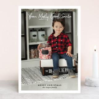 Mostly Good Santa Holiday Photo Cards