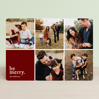 Merriment squared Holiday Photo Cards