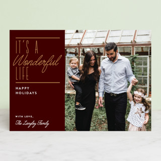Wonderful Christmas Holiday Photo Cards