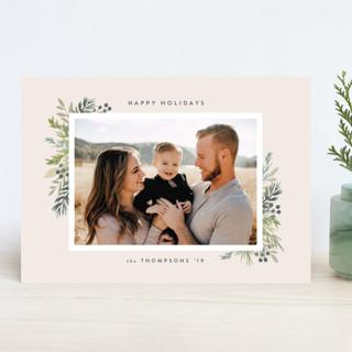 Natural Foliage Holiday Photo Cards
