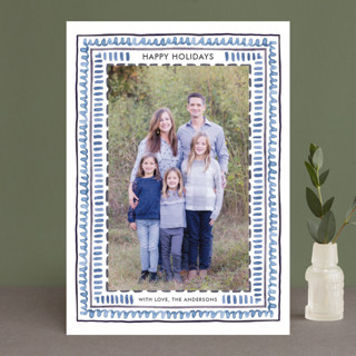 Watercolor Framed Holiday Photo Cards