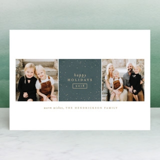 Sparkling Be Merry Holiday Photo Cards