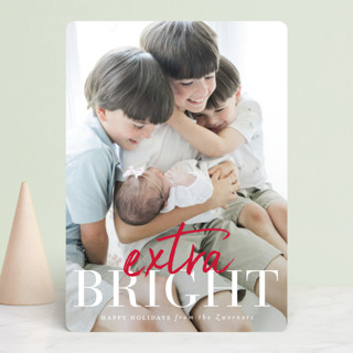 extra merry classic Holiday Photo Cards