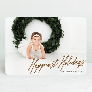 Slant Holiday Photo Cards