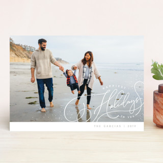Sprinkle Script Holiday Photo Cards