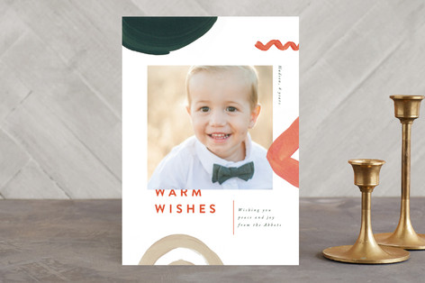 Swirl and Loop Holiday Photo Cards