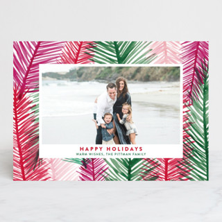 Holiday Leaves Holiday Photo Cards