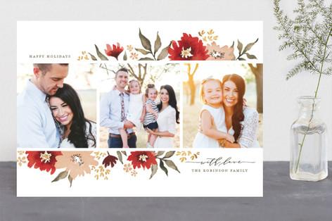 Poinsettia Gardens Holiday Photo Cards