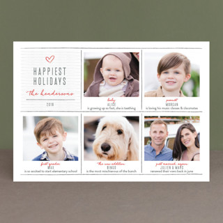 pencil it out Holiday Photo Cards