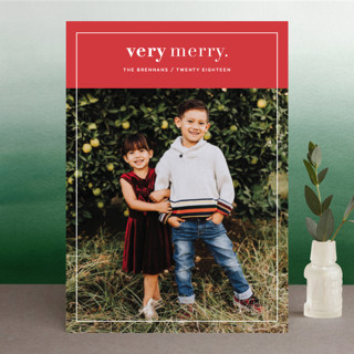 VeryMerry Holiday Photo Cards