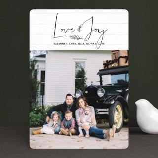 Shiplap Holiday Photo Cards