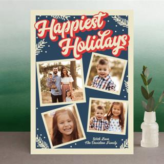 Groovy Retro Holiday Holiday Photo Cards