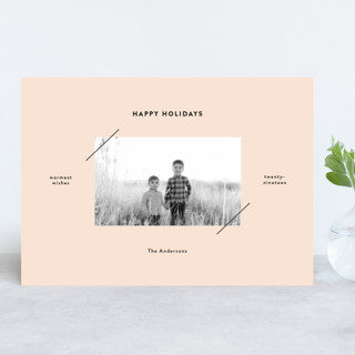 Editorial Frame Holiday Photo Cards