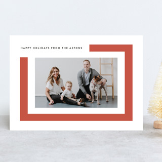 Modern Frame Holiday Photo Cards