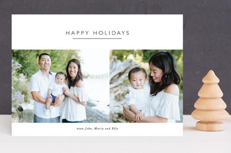 Boxed Minimalist Holiday Photo Cards