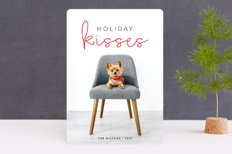 Holiday Kisses Holiday Photo Cards