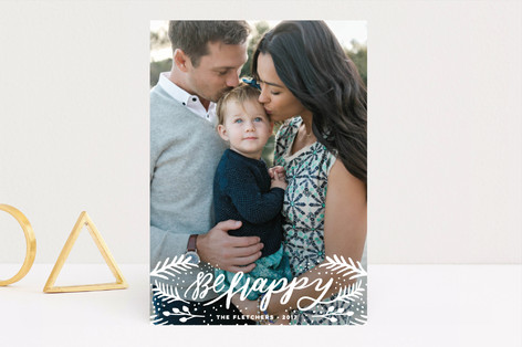 merry berries and pines Holiday Photo Cards