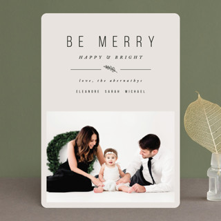 Simple & Merry Holiday Photo Cards