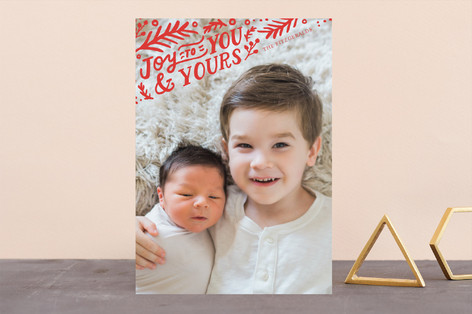 To You and Yours Holiday Photo Cards