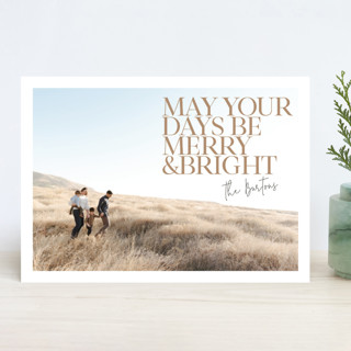 Bright Days Holiday Photo Cards