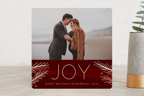 Pine Joy Holiday Photo Cards