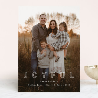 Blissful Joy Holiday Photo Cards