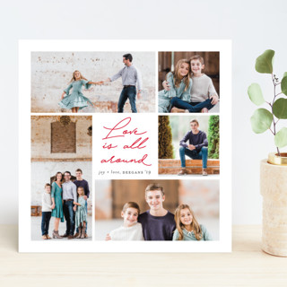 Love all around Holiday Photo Cards