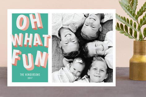 fun letters Holiday Photo Cards
