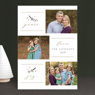 Classic Wishes Holiday Photo Cards