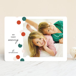 Confetti Edge Holiday Photo Cards
