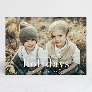 Merrily Stated Holiday Photo Cards