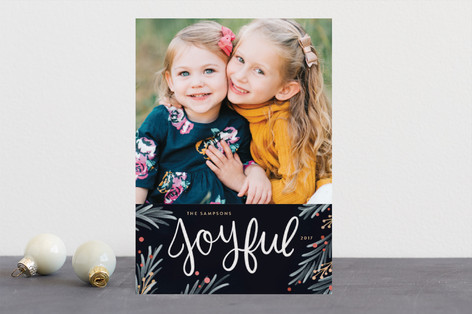 Painted Pine Holiday Photo Cards
