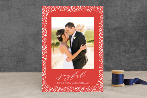 Speckled Border Holiday Photo Cards
