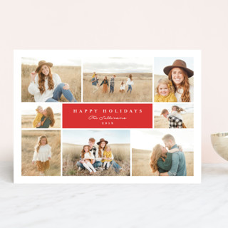 Classic Collage Holiday Photo Cards