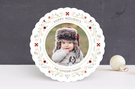 Petite Wreath Holiday Photo Cards