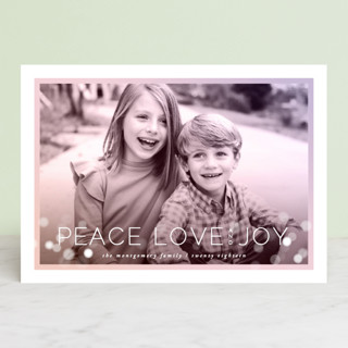 Prismatic Holiday Photo Cards