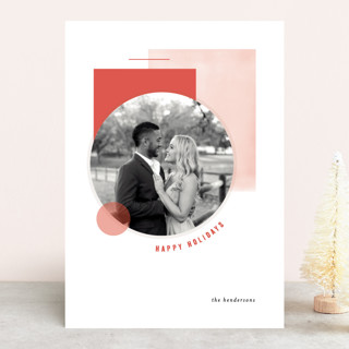 Deco Collage Holiday Photo Cards